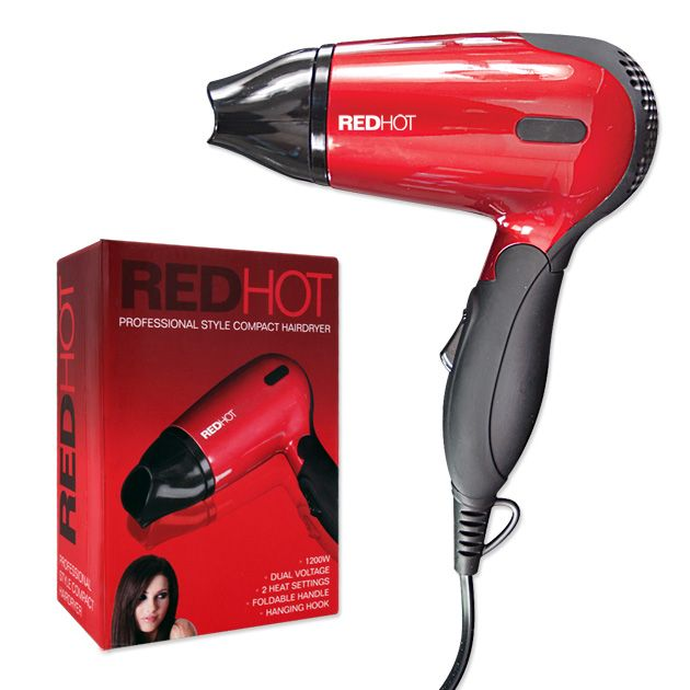 Redhot Compact Hair Dryer - 1200w